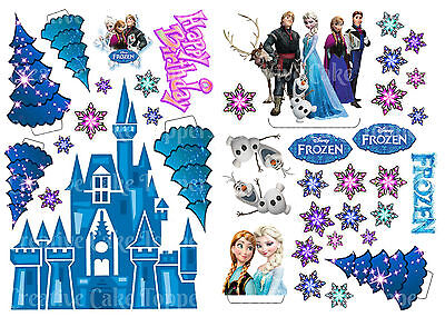 Edible Disney Frozen Ice Castle Anna Elsa Wafer Stand Up