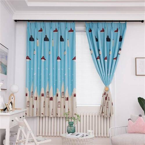 Modern Children/'s Curtains Home Decoration Light Bulb Printing Blackout Curtains