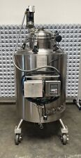 500l Stainless Steel Jacketed Reactor Withagitator 45 Psi Internal 154 Psi Jacket