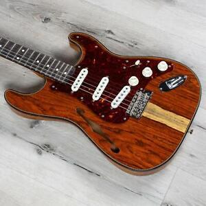 Fender Custom Shop Artisan Cocobolo Thinline Stratocaster NOS Guitar, Blackwood