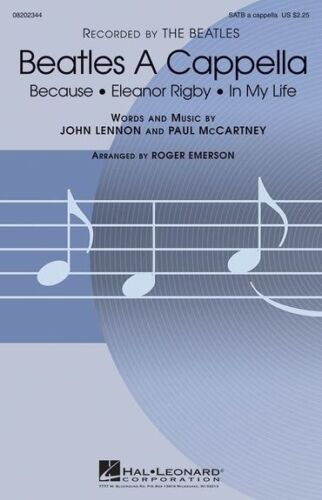 The Beatles Beatles A Cappella SATB Sheet Music Vocal Score