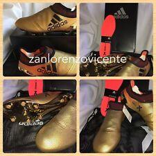 7c4a0e3e9 Adidas Men s X 17+ Purespeed FG Soccer Cleats Metallic Gold Black Suarez Sz  10.5