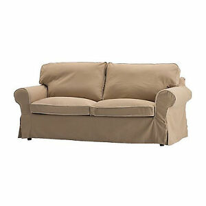 Details About Ikea Ektorp Slipcover 2 Seat Loveseat Sofa Cover Idemo Beige With Piping