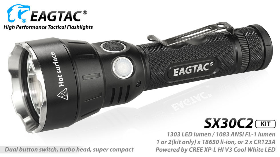 Combo: Eagletac SX30C2 Kit XP-L HI Flashlight V3 NW Flashlight HI w/NL183 2300mAh Battery 9ac92b