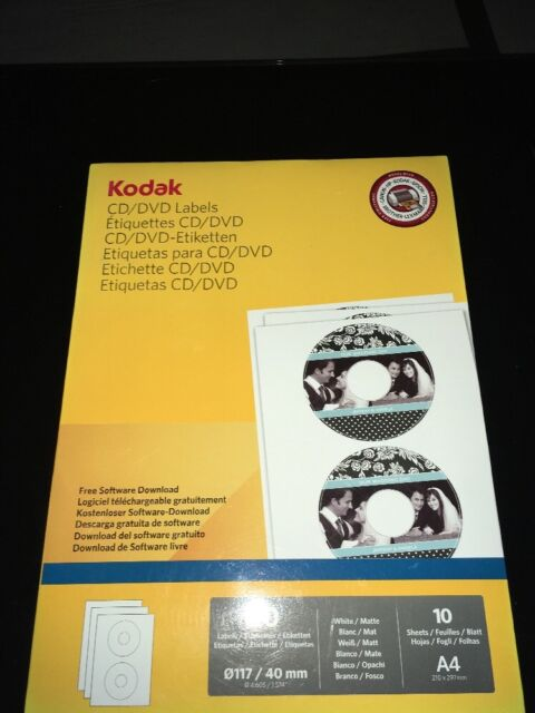 picture regarding Printable Cd Labels called Kodak Printable Cd/dvd Labels 20pk