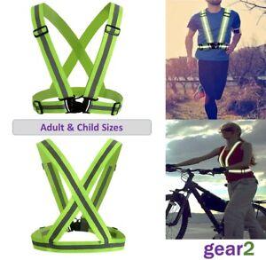 f332485ad Hi Viz Reflective Running Cycling Vest Belt High Visibility Mens ...