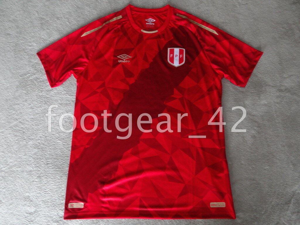 Nuevo Camiseta  De Fútbol Oficial Umbro Perú 2018 Camisa Rojo de todos Limitada Original  calidad auténtica
