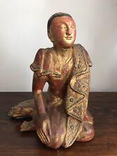 A 19th C. Burmese Mandalay Buddhist Monk Like Tibetan Indian Chinese Buddha