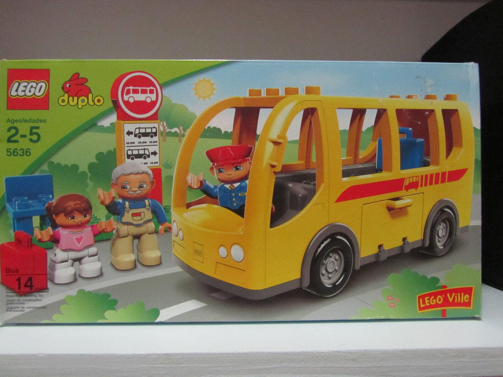 Lego Duplo Lego Ville 5636 5636 5636 Big School Bus Vehicle People  NEW SEALED   Lot Set 425562