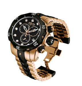 b7dcf059e9a NEW Invicta Reserve Subaqua Venom Rose-tone Gold Black Bracelet ...