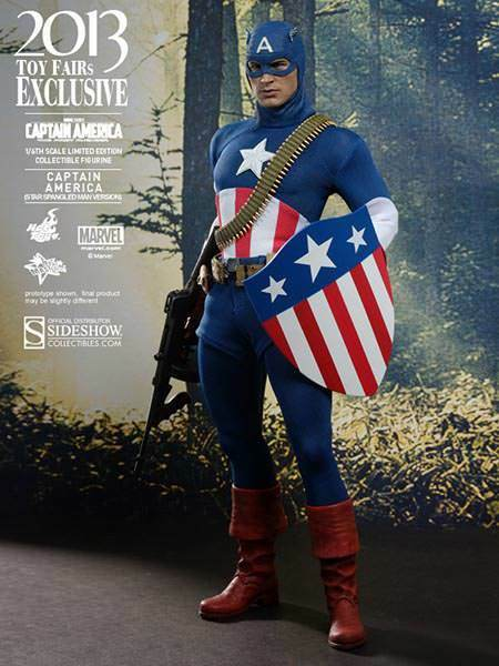 1 6 Scale Captain America Star Spangled Man Version Exclusive Hot Toys