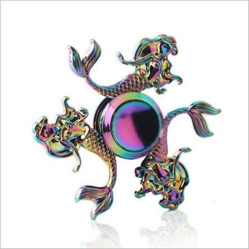 Rainbow Mermaid Bangers doigt Spinner main Spin Bearing Focus STRESS Toy