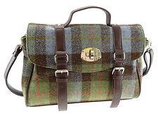 Onorevoli 100% Harris Tweed Verde Tartan Fashion Satchel Bag lb1001 Col15