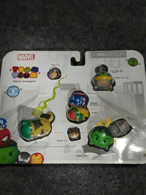 Thor Hulk Iron Man Marvel Tsum Tsum 9-Pack Mini-Figures Classic Avengers