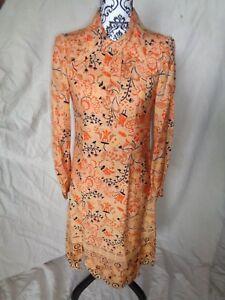 Robe Art Nouveau Art Deco En Soie Marque Rety Paris Ancien Ebay