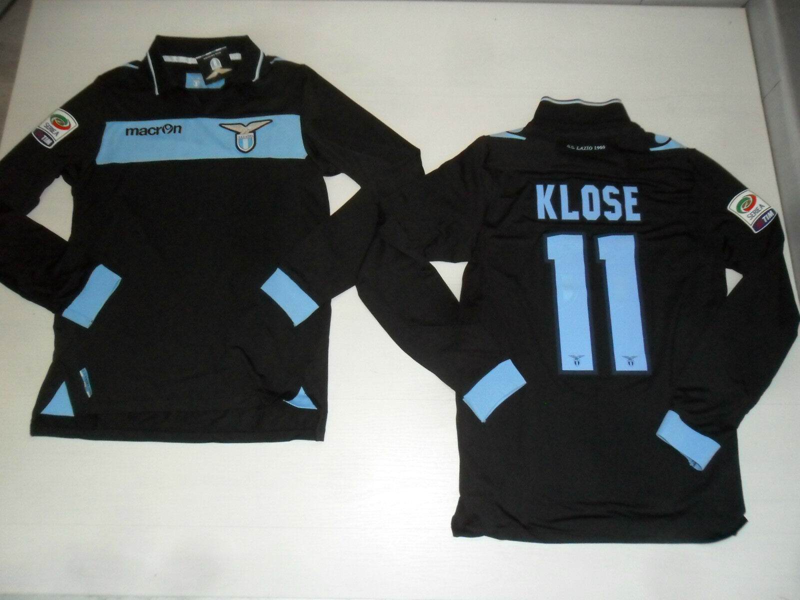 12-13 MAGLIETTA LAZIO PREPARATA KLOSE ISSUE SHIRT MANICA LUNGA LONG SLEEVE  30