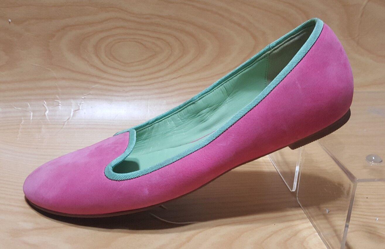 Cole Haan Pink Flats Ballet Suede Damenschuhe Schuhes 7.5 B