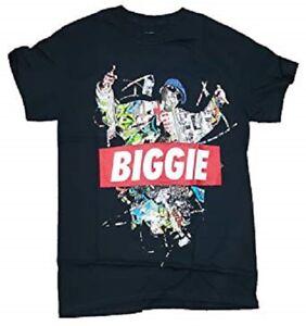 Fashion-Notorious-B-I-G-Biggie-Collage-Black-Graphic-T-Shirt