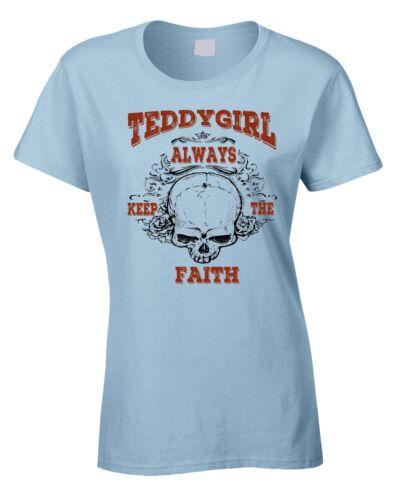 Teddygirl Ladies T-Shirt Rockabilly Rock /& Roll 50/'s 60/' Teddy Girl