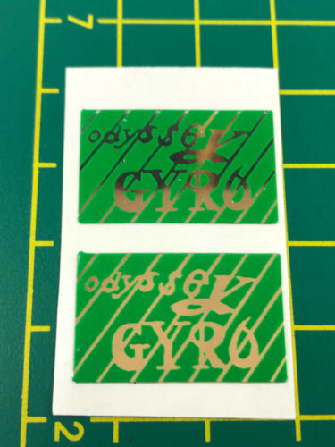 old school bmx decals stickers odyssey gyro cable decals pair green chrome