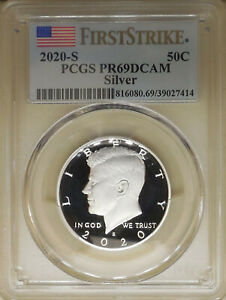 2020-S-PCGS-PR-69-DCAM-Kennedy-half-dollar-deep-cameo-First-Strike-999-SILVER