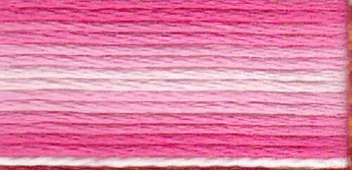 Anchor Sticktwist 6fädig 8 m 100 /% BW rosa ombre 1201