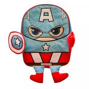 Captain-America-Peluche-Devant-Sac-A-Dos-D-039-ecole-Neuf-Cadeau