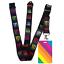 High-quality-ID-badge-holder-RAINBOW-STRIPES-amp-Secure-Lanyard-neck-strap-soft thumbnail 10