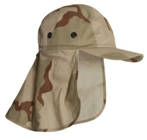 Top-Headwear-Vacationer-Flap-Hat-With-Full-Neck-Cover-New-Desert-Camoflauge