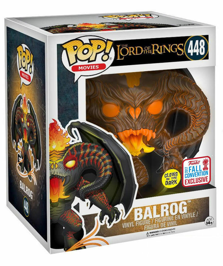 Balrog GITD 2017 Fall Exclusive Lord Of The Rings POP  Movies  448 Figur Funko
