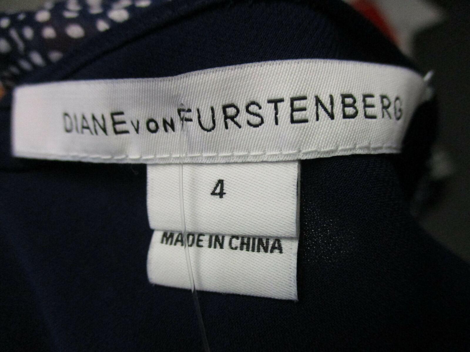 DIANE VON FURSTENBERG Dita 100% silk navy blue & … - image 6