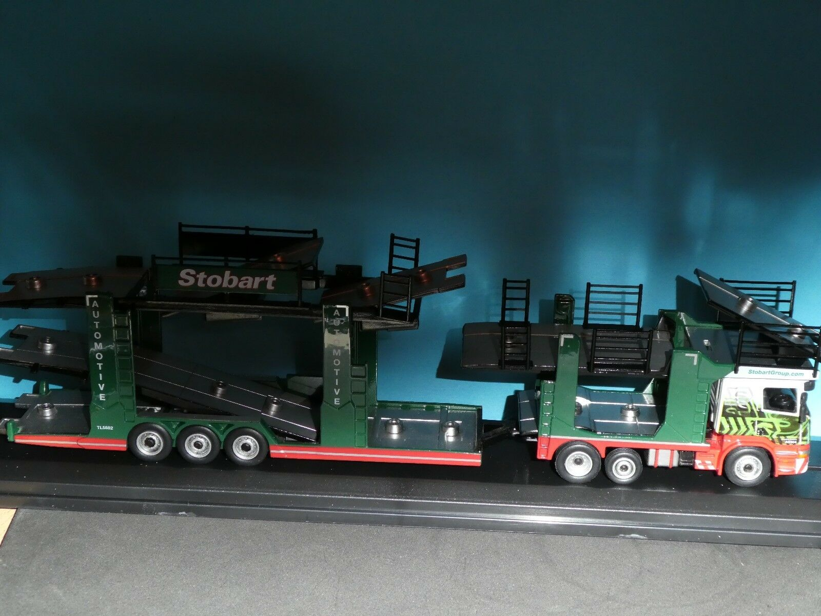 Scania Car Transporter up to 11 vehicles Eddie Stobart  by Oxford 1 76 00 gauge
