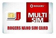 Brand New Rogers CANADA 4G LTE Multi Sim Card - Nano Micro Standard 3 in 1 Combo