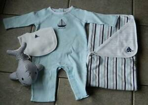 Size 3-6 months outfit Janie and Jack,4 pc. set,Signature Collection,Layette,gif