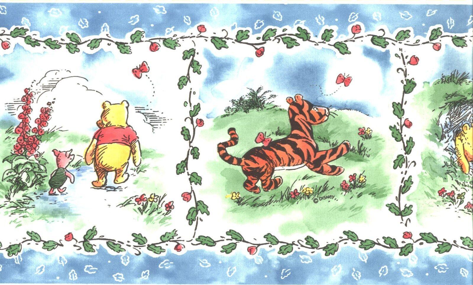 Disney Classic Winnie The Pooh Friends Wallpaper Border Kid