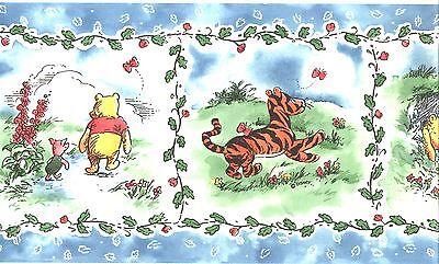 Disney Classic Winnie The Pooh Friends Wallpaper Border Kid Nursery Wall Decor 28181529745 Ebay