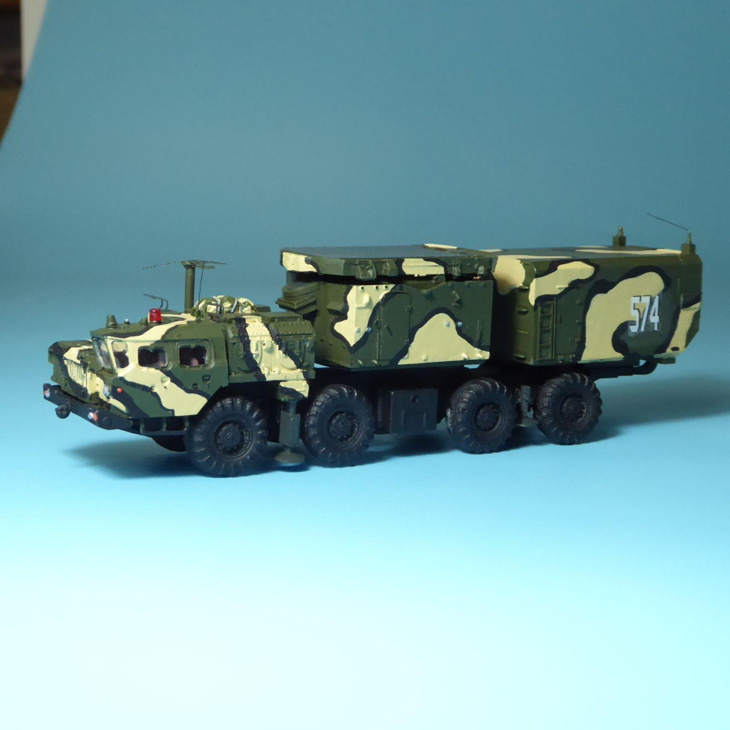 RK modelos maz 543 s 300 radar rpn30-noe NVA sq urss DDR, h0, 1 87, militar