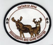 2014 ONTARIO MNR BIG GAME HUNTER PATCH-MICHIGAN DNR DEER-BEAR-MOOSE-ELK-CREST