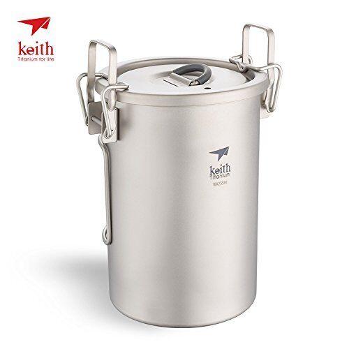 Keith Ti6300 Multipropósito Titanio olla olla de Camping Ligero utensilios de cocina 6300