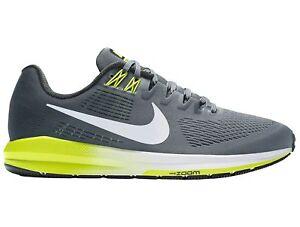 dc47d5d9fffa Nike Air Zoom Structure 21 Mens 904695-007 Grey Volt Mesh Running ...