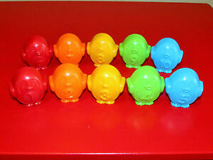 VTECH-COUNT-and-DIVE-PENGUINS-SET-OF-10-NEW-REPLACEMENT-PENGUIN-PIECES-PARTS-TOY