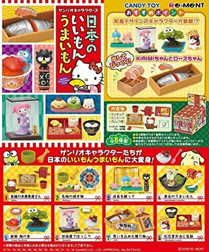 New Re-ment Sanrio Characters miniature  Japanese Life  Full Box Set Japan