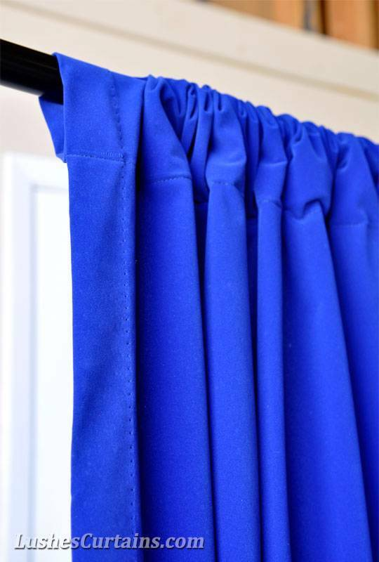 Personalisiert Breite von 3M H royal blauer Samt Vorhang Vorhang Vorhang lange Bahn Stange TOP f0b8b8