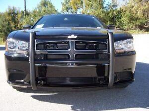 Push-Bumper-Go-Rhino-2011-2014-Dodge-Charger-part-5076-Black-Powder-Coat
