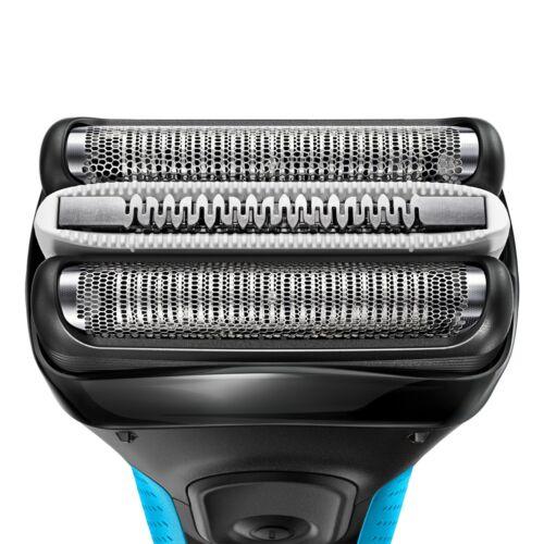 Braun Series 3 3040s rasoio elettrico Trimmer Nero Blu