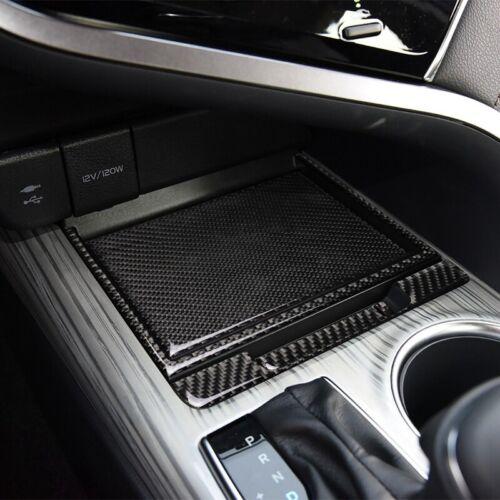 4x Carbon Fiber Center Console Storage Box Cover Trim For Toyota Camry 2018-2020