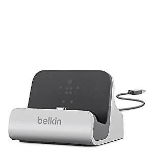 Belkin-Micro-USB-Charge-and-Sync-Desktop-Dock-with-3-ft-Cable-Silver