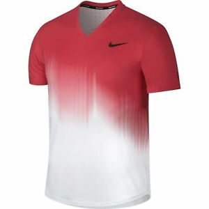 Activewear Tops Nike Tennis Rf Us Open Red White Shirt Sz S Nwt 854925-101