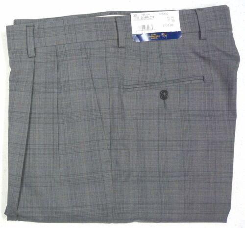 NWT $150 HART SCHAFFNER MARX GREY PANTS PLEAT CHICAGO 30R 34R 36R GRAY NEW