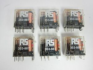 Lot of 6 Omron 62R-SN 24VDC Relay 62RSN